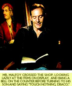 Every actor reading the description of their own character in the books --- Jason Isaacs as Lucius Malfoy