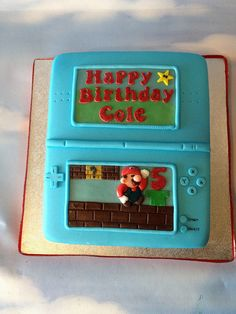 Super Mario DS Cake by Cakes by Jordana