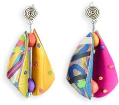 See thru earrings (Polymer Clay Daily)