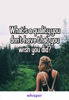 "Someone posted a whisper, which reads ""What's a quality you don't have that you wish you did? Question Game, Question Of The Day, This Or That Questions, Facebook Engagement Posts, Social Media Engagement, Facebook Group Games, For Facebook, Facebook Party, Interactive Facebook Posts"