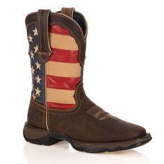 Durango Lady Rebel Women's American Flag Cowboy Boots, Size: medium (