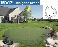 x diy backyard putting green Outdoor Putting Green, Golf Green, Artificial Turf, Hanging Pots, Potting Soil, Little Houses, Vegetable Garden, Outdoor Lighting, Garden Landscaping