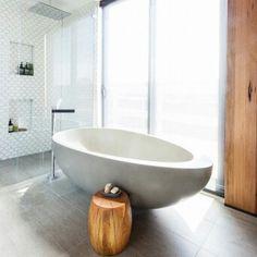 The Block: Bathroom reveals - Design Tribe Bathroom Renos, Grey Bathrooms, Beautiful Bathrooms, Bathroom Interior, Bathroom Ideas, Small Bathroom, Wooden Bathroom, Bathroom Inspo, Bathroom Organization