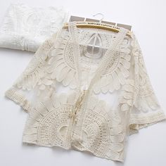 Lace Cardigan Outfit, Dress Outfits, Casual Outfits, Bikini Cover Up, Cropped Tank Top, Different Fabrics, Lace Shorts, Summer Outfits, Kimono