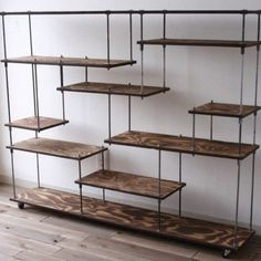 Image Result For Wood And Iron Shelf