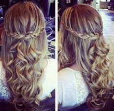 Curls in long hair
