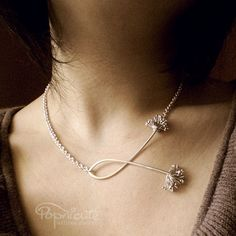 Dandelion Argentium Sterling Silver Handmade 4 in 1 Necklace