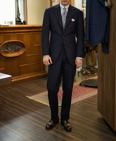 Dugdale Navy Single Breasted Suit by B&TAILOR
