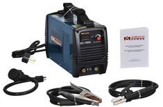 For those who need an affordable Stick welder only, this dual voltage DC machine is ideal. You can expect good quality and some good features even at this low price.  This unit is both versatile and light in weight, which adds to its versatility. It can run with AC or DC power as per the arc requirements. The small size makes it easy to handle and carry this unit anywhere. To add, an electrode holder for ensuring an upright position, a work clamp, and a 10-foot cable makes it easier to move.