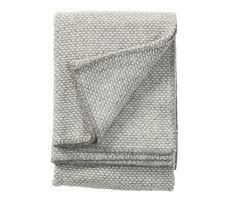 Grått domino ullteppe, 65x90 cm - Klippan