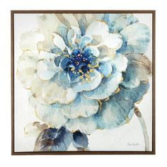 Our hanging artwork colorfully blooms into view. Its watercolor style, gold accents and decorative frame vividly accent your decor.