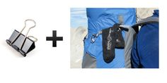 Bring binder clips so you can hang wet clothes off of your backpack. | 15 F*cking Brilliant Hiking Hacks You Need To Try ASAP