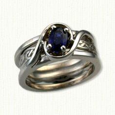 Reverse Cradle Engagement Rings - Custom Double Swirl Cradle Designs By deSignet!
