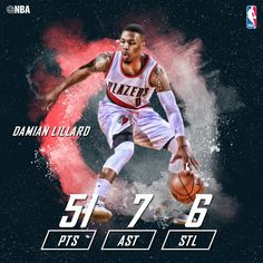 online retailer 802a0 085b8 Still annoyed at his all star snub, Damian Lillard dropped 51 on the  defending champion Golden State Warriors in a home win in Portland.