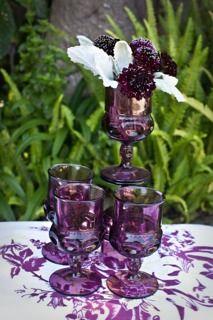 purple glassware