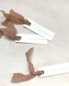 The Ophelia wedding escort cards are inspired by the elements of autumn or fall. We've incorporated earthy tones including a dusty pink or clay, ivory, and burnt orange. With hand illustrated foliage and modern, minimalist typography, this suite is perfect for any fall themed weddings. Adorned with Tono & Co ribbon and bronze eyelets   Gatherie Creative  