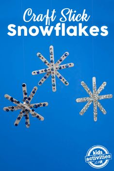 These glittery, jeweled snowflakes are the perfect craft for a snow day! @Imperialsugar #ad