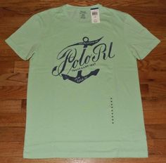 NEW NWT Mens Polo Ralph Lauren T-Shirt $45 Ocean Anchor Vintage Custom Fit *4E #PoloRalphLauren #BasicTee