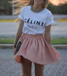 Celine tee fashion blogger Mónica Sors, Mes Voyages à Paris