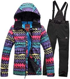 online shopping for Womens ski Suits Jackets Colorful Wave Pattern Waterproof Windproof Breathable Snowboard Sets Skiing from top store. See new offer for Womens ski Suits Jackets Colorful Wave Pattern Waterproof Windproof Breathable Snowboard Sets Skiing Snowboard Set, Womens Snowboard Jacket, Snowboarding Outfit, Snowboarding Women, Neon Pants, Waterproof Rain Jacket, Snow Outfit, Lambskin Leather Jacket, Winter Jackets Women