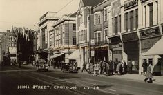The Davis Theatre and High Street, Croydon - From a contemporary Postcard, Courtesy Gavin Wood. South London, Old London, Thornton Heath, London History, Croydon, Back In Time, Ancestry, Old Photos, Britain