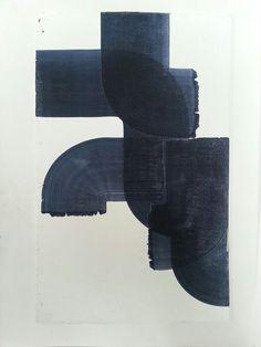 vjeranski: Joseph Connolly Oil on found plywood. #abstractart