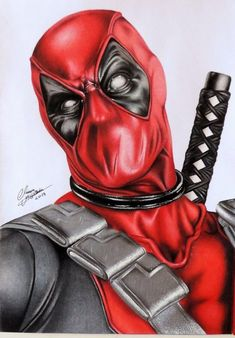 Marvel Tattoos, Eagle Drawing, Guy Drawing, Realistic Drawings, Colorful Drawings, Deadpool Pictures, Avengers Drawings, Deadpool Art, Iron Man Art