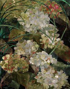 White Hydrangea - quilt