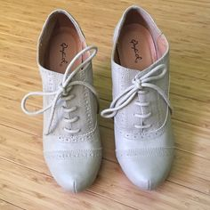 Cute Booties Never worn, have one scuff but it's from rubbing up against something. Still look really nice! Shoes