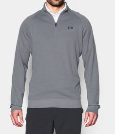 Men's Under Armour Storm Sweaterfleece Golf ¼ Zip. Built for late season on the course – it's light, warm & water rolls right off.