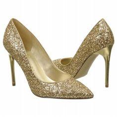 Ivanka Trump Kaydena Shoes (Gold Glitter)