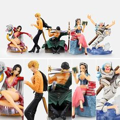 26.99$  Watch now - http://aligot.shopchina.info/go.php?t=32729547553 - Free Shipping One Piece Anime Hancock Sanji Zoro Robin Buggy The 2nd Boxed PVC Action Figures Collection Model (5pcs per set)  #SHOPPING