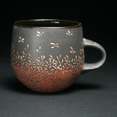 Cherry Blossom mug. Debra Oliva. Baltimore Clayworks.