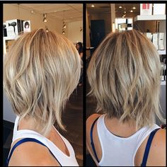 short bob hairstyles back-view-of-short-hairstyles Back View Of Short Layered Haircuts Short Layered Haircuts, Short Hair Cuts, Messy Short Hair, Haircuts For Thin Hair, Haircut Short, Medium Bob Hairstyles, Short Hairstyles For Women, Hair Cuts Choppy, Short Trendy Hair