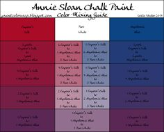 COLORWAYS   Annie Sloan Chalk Paint mixing for purple with Emperor's Silk, Napoleonic Blue, + Pure White