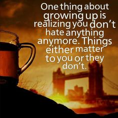 Things either matter or they don't.