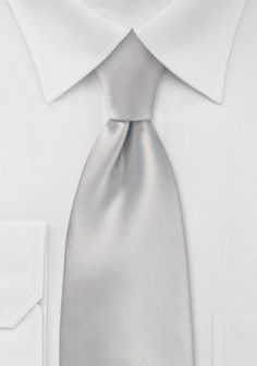 Light Silver Neck Tie - ties shop - black, silver & white