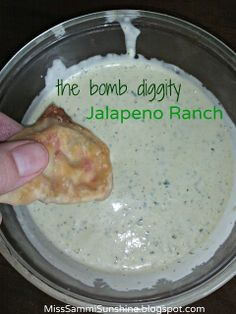 "The ""Bomb Diggity"" Jalapeno Ranch Dressing  {MissSammiSunshine.blogspot.com}"
