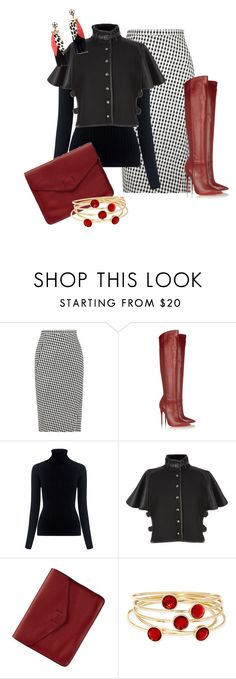 """""""Skirt and Boots"""" by hope-houston on Polyvore featuring Altuzarra, Christian Louboutin, M.i.h Jeans, Henri Bendel, Gap and Liz Claiborne"""