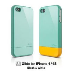 teal & yellow iphone case