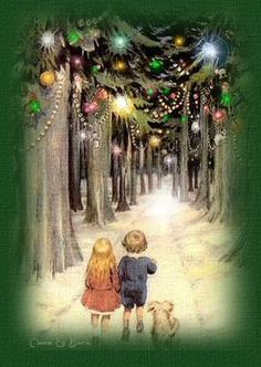 Christmas--reminds me of something from Hansel and Gretel