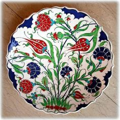 Shop Historical Dianthus and Tulip Pattern - Tile Art Classic Round Sticker created by GrooveMaster. Ceramic Tile Art, Ceramic Pottery, Pottery Art, Turkish Art, Turkish Tiles, Turkish Plates, Ceramic Figures, Cool Art Drawings, Porcelain Ceramics