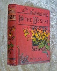 In the Desert by D. Alcock Antique Victorian Binding Decorative Floral Cover