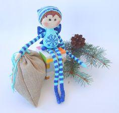 Elf Azure Crochet art doll Crochet от ColoredYarn