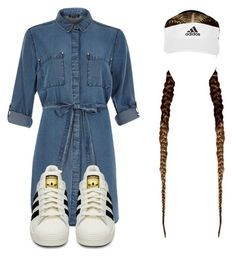 """I GOT SIX JOBS I DONT GET TIRED"" by kierstinthesavage on Polyvore featuring River Island and adidas"