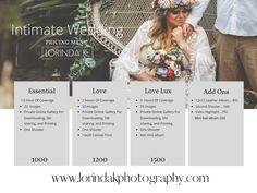 Intimate wedding pricing guide Lorinda K. Photography Monterey Carmel Big Sur elopement photographer