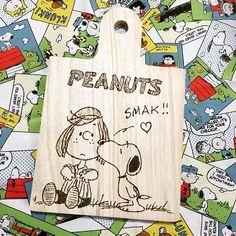 namimocchi連投します コメント閉めます #ウッドバーニング #焼き絵 #焦がし絵 #はんだごて #ハンドメイド #カッティングボード #ペパーミントパティ #スヌーピー #snoopy #peanuts #my_favorite_peanuts
