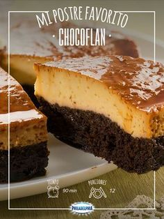 Chocolate y flan Mexican Food Recipes, Sweet Recipes, Cake Recipes, Dessert Recipes, Dessert Healthy, Food Cakes, Cupcake Cakes, Chocoflan Recipe, Flan Cake