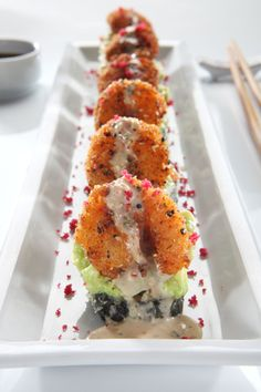 RA Sushi Pointe Orlando is participating in Magical Dining Month Sushi Recipes, Asian Recipes, Shrimp Sushi, Fried Shrimp, My Favorite Food, Favorite Recipes, Sushi Party, Sushi Rolls, Menu Restaurant