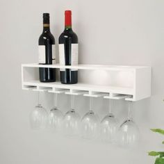 Shop a great selection of Siera 4 Bottle Wall Mounted Wine Bottle Glass Rack White Ebern Designs. Find new offer and Similar products for Siera 4 Bottle Wall Mounted Wine Bottle Glass Rack White Ebern Designs. Wine Rack Shelf, Wine Glass Shelf, Wine Glass Rack, Wine Rack Wall, Glass Shelves, Wall Shelves, Wine Racks, Wood Shelf, Pot Racks